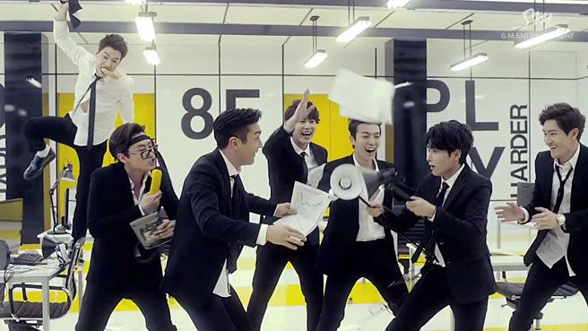 Be a man de MBLAQ VS Swing de Super Junior M