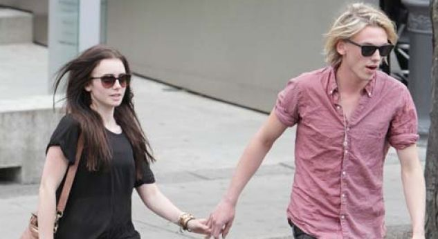 Lily Collins sale con Jamie Campbell Bower