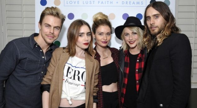 Lily Collins y Julianne Hough ¡rockearon con 30 Seconds To Mars!