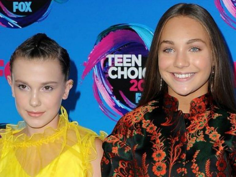 Maddie Ziegler y Millie Bobby Brown asistieron juntas a los Teen Choice Awards 2017