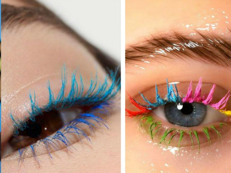 Mermaid lashes: ¡una idea súper colorida para tus pestañas!
