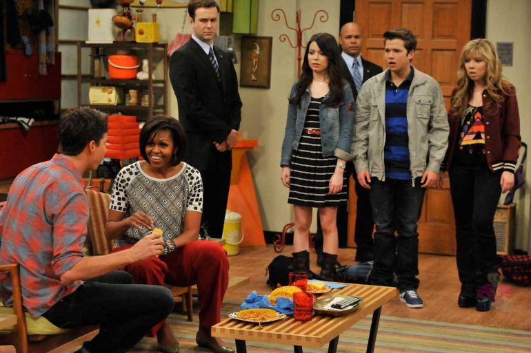 Michelle Obama estuvo en iCarly